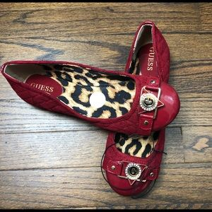 GUESS RED LOAFERS